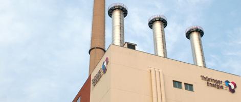 Lichtwerbeanlage Thüringer Energie